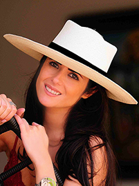 Panama Hat - Gambler for Women  Wide Brim