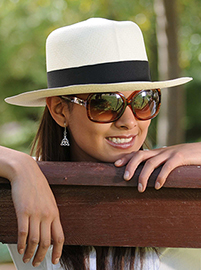 Colonial Panama Hat for Women - Natural