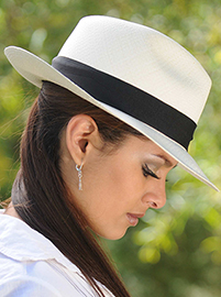 Panama Fedora Hat - Gamboa Classic for Women