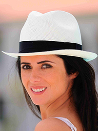 Panama Cuenca Hat - White Borsalino (Havana) for Women